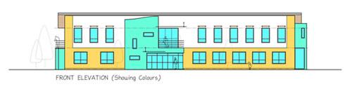 front elevation colour